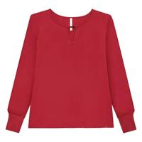 Blusa Plus Size Detalhe Metal Lunender Feminina - Vermelho