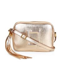 Bolsa Couro Luz da Lua Mini Bag Transversal Feminina - Dourado
