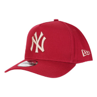 Boné New Era MLB New York Yankees Aba Curva Snapback A-Frame 9Forty - Vermelho Escuro