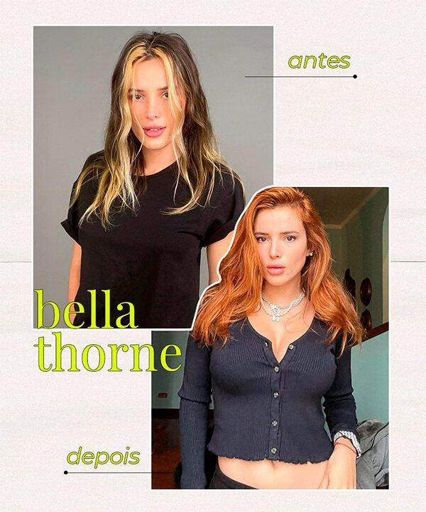 Bella Thorne - cabelo ruivo - cabelo tingido - inverno - brasil - https://stealthelook.com.br
