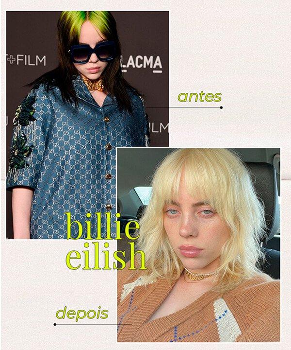 Billie Eilish - cabelo platinado - cabelo tingido - inverno - brasil - https://stealthelook.com.br