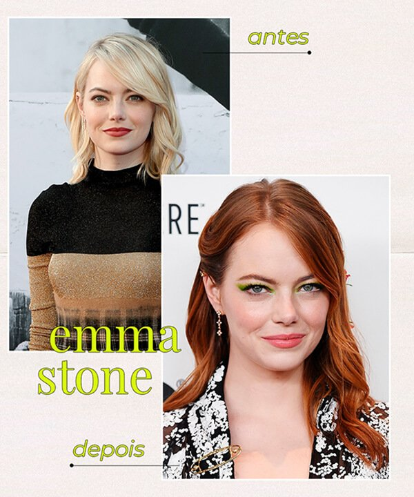 Emma Stone - cabelo ruivo - cabelo tingido - inverno - brasil - https://stealthelook.com.br