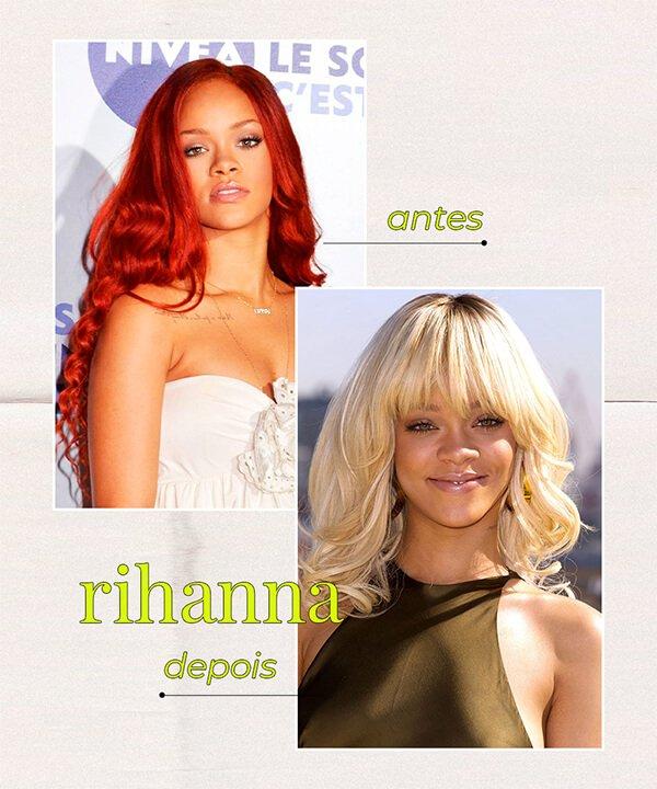 Rihanna - cabelo ruivo  - cabelo tingido - inverno - brasil - https://stealthelook.com.br