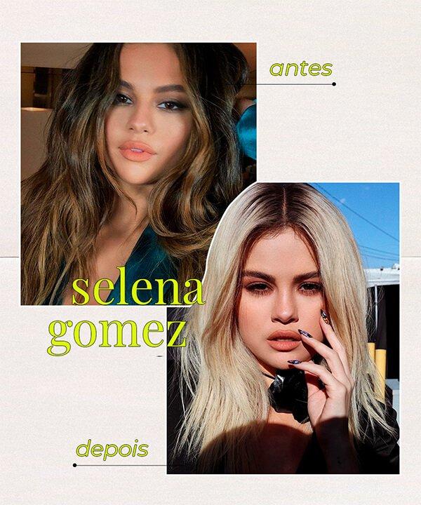 Selena Gomez - cabelo platinado - cabelo tingido - inverno - brasil - https://stealthelook.com.br