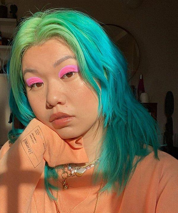 Mi-anne Chan - cabelo colorido - cabelo tingido - inverno - brasil - https://stealthelook.com.br