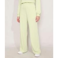 calça reta de moletom com bolsos cintura alta mindset verde claro ★★★★★(1)