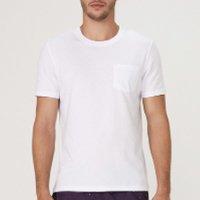 Camiseta Básica Masculina Regular Em Malha Com Algodão