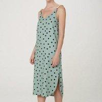 Vestido Midi Sem Manga Alças Em Miçangas - Verde