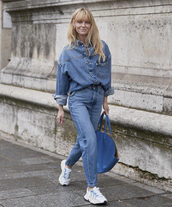 Jeanette Madsen - casacos para comprar neste inverno - jaqueta jeans - outono - street style - https://stealthelook.com.br