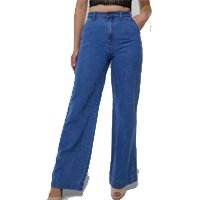 Calça Jeans Pantalona Cintura Super Alta Sob Masculina - Azul