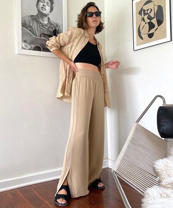 Jen Azoulay - camisa de botão - looks com camisa - outono - street style - https://stealthelook.com.br