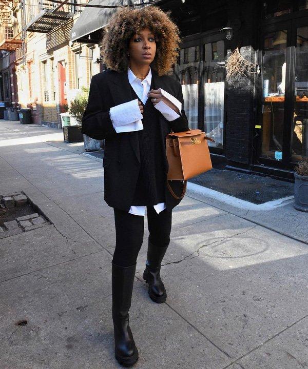 Karen Blanchard - camisa de botão - looks com camisa - outono - street style - https://stealthelook.com.br