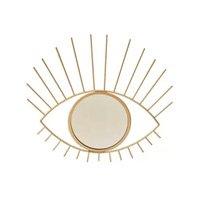 Espelho Decorativo Dourado De Parede Olho Grande Místico - Bcontinental