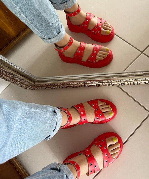 Yellow Factory - sapato vermelho - marcas brasileiras de sapatos - inverno - brasil - https://stealthelook.com.br
