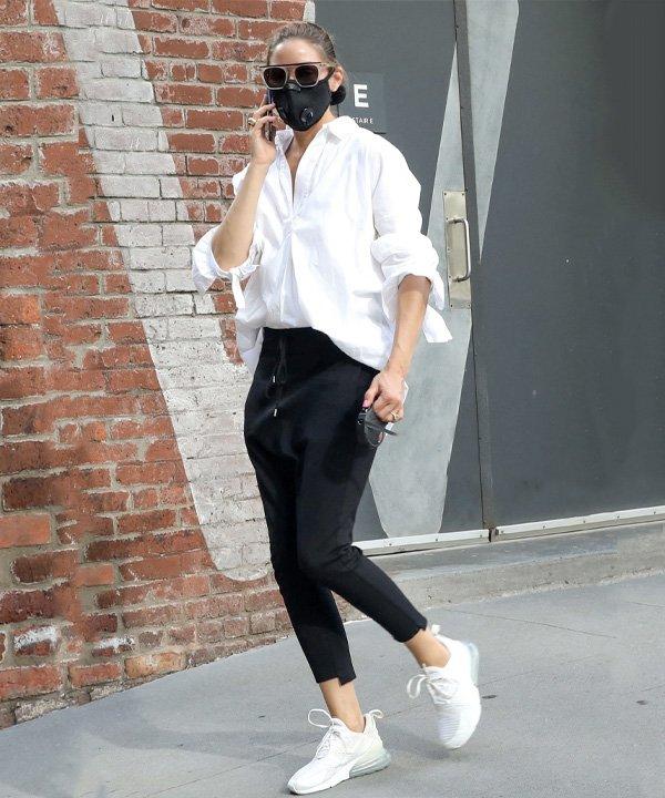 Olivia Palermo - tênis esportivos - sapatos 2021 - outono - street style - https://stealthelook.com.br