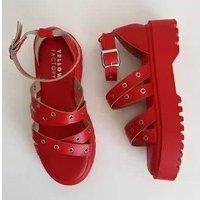 RIVET HIGH sandália- vermelho (vegan)