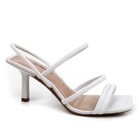 Sandália Dakota Salto Médio Bico Quadrado Feminina - Branco