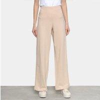 Calça Liz 20015 Pantalona Feminina - Bege