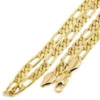 Corrente Folheada a Ouro 18k Tudo Jóias Modelo Elo 3x1 com 6mm de largura - Dourado