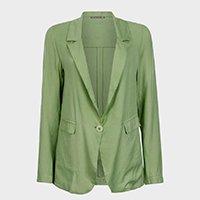 blazer feminino alongado alfaiataria collab yan acioli - verde