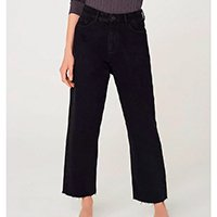 Calça Jeans Hering Reta Feminina - Preto