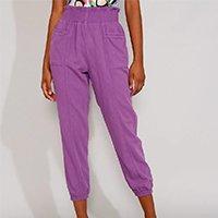 calça jogger feminina clochard cintura alta roxa