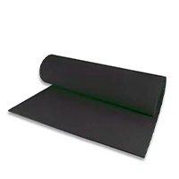 Tapete de Yoga 5mm Eva Mat Pilates 1,80x0,60m - Preto - Ams Eva