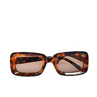 óculos de sol feminino anna oncinha retangular quadrado