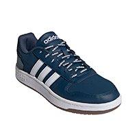Tênis Adidas Hoops 2 0 Masculino - Azul+Branco