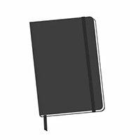 Caderneta Com Pauta 14x9 Cm Bloco De Anotação Sketchbook - Grafiara
