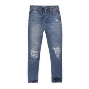 Calça Feminina Jeans Mom Rasgos Stone Med Tamanho 36