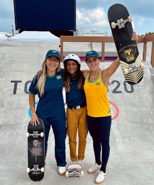 Leticia Bufoni e Pâmela Rosa - 2021 - olimpíadas - skate - toquio - https://stealthelook.com.br