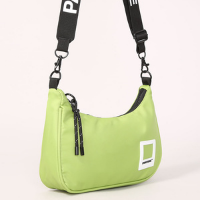bolsa baguete pantone verde - único