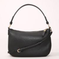 bolsa baguete pequena com alça removível preta