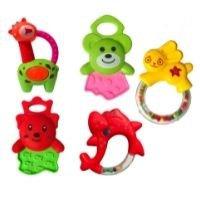 Brinquedo Infantil Bebê Kit de Chocalhos e Mordedores - huabiao toys