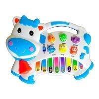 Brinquedo Pianinho Musical Baby Infantil Som Bichos Vaquinha - Toy King