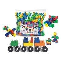 Brinquedo Educativo Blocos De Montar 500 Peças Pedagógicos Didático Infantil - luctoys