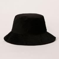 bucket hat feminino de veludo cotelê preto - único