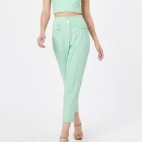 Calça Alfaiataria Bolsos Feminina - Verde