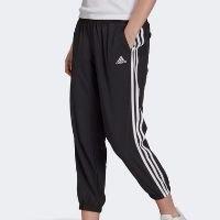 Calça Adidas 3 Listras 7/8 Plano Feminina - Preto+Branco