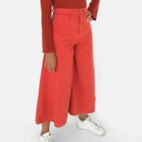 calça pantacourt sarja