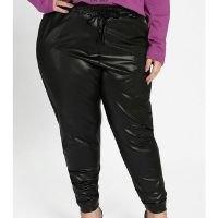 Marguerite - Calça Preta em Cirrê com Bolsos Plus Size