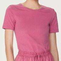 Camiseta Feminina Básica Em Algodão - Rosa