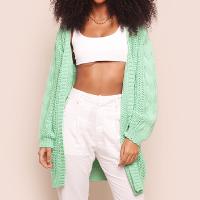 tricô alongado verde menta crush mundo lolita - unico