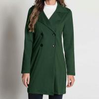 Moda Pop - Sobretudo Verde Militar com Botões