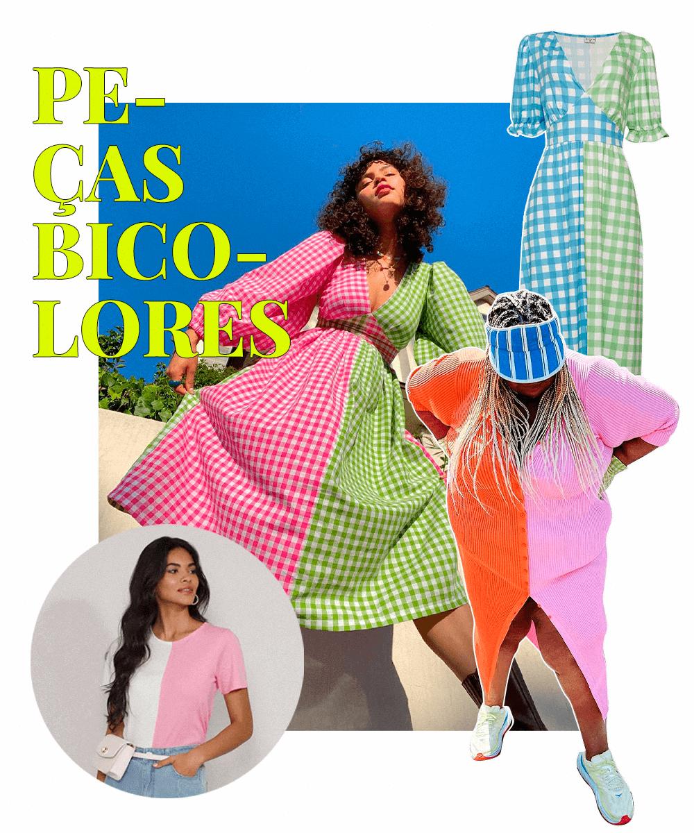 Jazmine Rogers - Peça bicolor - tendências do Pinterest - Inverno  - Steal the Look  - https://stealthelook.com.br
