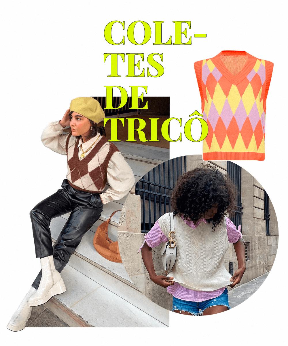 María Bernard - Colete de tricô  - tendências do Pinterest - Inverno  - Steal the Look  - https://stealthelook.com.br