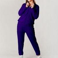 Conjunto Plush Comfy Jaqueta Mais Calça - Azul