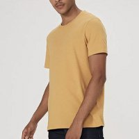 Camiseta Básica Mangas Curtas World - Amarelo Médio