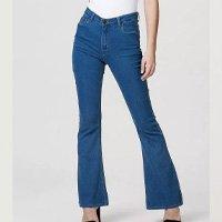 Calça Jeans Feminina Flare - Azul Marinho